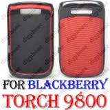 Blackberry Torch 9800 husa rosie negru originala, Plastic, Carcasa