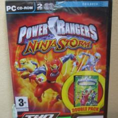 Power Rangers Ninja Storm & Power Rangers Time Force (PC CD ROM) SIGILAT!!! (ALVio) + sute de Jocuri PC Thq), Actiune, 3+