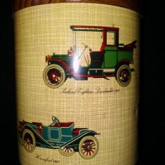 Cutie metalica reprezentand automobile de epoca, de la inceputul anilor 1900 - Cutie Reclama