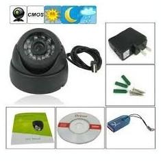 Camera Supraveghere cu Infrarosu si Inregistrare pe Card MicroSD