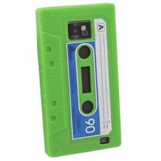husa verde stil caseta samsung galaxy s2 i9100   + folie protectie ecran + expediere gratuita