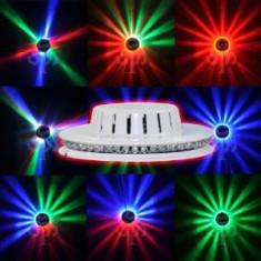 LED UFO  ,OZN CU LEDURI ROTATIVE,LUMINA DISCO SENZATIONALA CU LEDURI.NOU 2013.