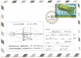 No2-plic  ocazional-(aerofilatelie) -85 ani de la construirea avionului Vlaicu 1, Dupa 1950