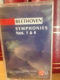 BEETHOVEN - SYMPHONIES NR. 1& 4 ( 1997/A & A REC) - caseta originala/nou/sigilat, Casete audio, a&a records romania