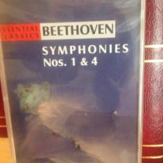 BEETHOVEN - SYMPHONIES NR. 1& 4 ( 1997/A & A REC) - caseta originala/nou/sigilat - Muzica Pop a&a records romania, Casete audio