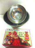 """Cutie metalica """"Coca-Cola/ A Marry Christmas""""/Bonus: 2 Castroane Inox - folosite"""