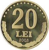 20 LEI 2003 EMISIUNE SPECIALA 1.000 EXEMPLARE BRILIANT UNC PROOF