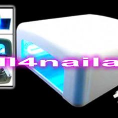Lampa UV 36 W,  Lampa unghii false Manichiura  gel uv ,Unghii false gel