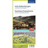 Schubert & Franzke Harta Panorama Sud Transilvania Tara Bisericilor Fortificate, F. Schubert