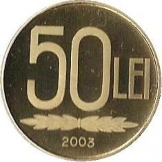 50 LEI 2003 EMISIUNE SPECIALA 1.000 EXEMPLARE BRILIANT UNC PROOF