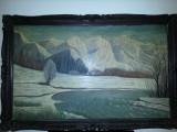 Cumpara ieftin Veche pictura semnata de dimensiuni MARI