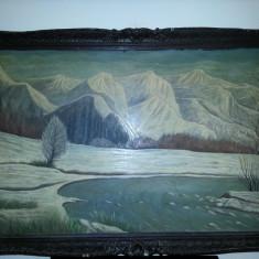 Veche pictura semnata de dimensiuni MARI