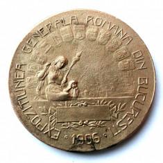 MEDALIE ROMANIA - EXPOZITIUNEA GENERALA BUCURESTI 1906 CAROL I 1906, 62 mm ** - Medalii Romania