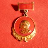 Insigna veche - Lenin, h= 3, 2 cm, Europa