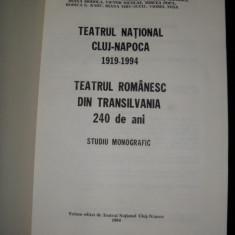 Teatru National Cluj-Napoca, 1919-1994, Teatrul Romanesc din Transilvania 240 de ani, studiu monografic, 1994 - Carte traditii populare