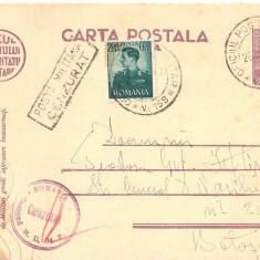 CPI (B3440) CARTE POSTALA, CIRCULATA, 31.AUG.1942, POSTA MILITARA, CENZURAT, STAMPILE, TIMBRE, RAZBOI, CENZURA