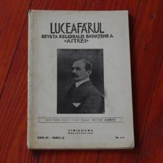 Luceafarul - Revista Regionalei Banatene a Astrei - Timisoara 1938 - anul IV - seria II - nr 5 - 6 - nr pentru Victor Babes