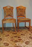 2 scaune lemn tapitate