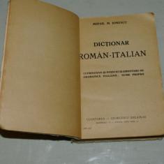 Dictionar roman - italian - Mihail M. Ionescu - Cugetarea - George Delafras - 1944