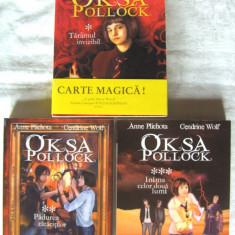 """""""OKSA POLLOCK"""", 3 vol., Anne Plichota /Cendrine Wolf,  2011 / 2012. Absolut noi, Alta editura"""