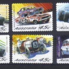 Australia 2002, Automobile, serie completa stampilata - Timbre straine