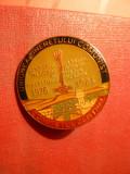 Insigna UTC -Comitetul Central-Santier Dunare-Marea Neagra 1984 -f.rara!, Romania de la 1950