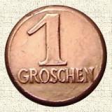 JETON 1 GROSCHEN_PROSIT NEUJAHR, token Austria, impecabil