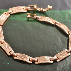 Bratara Barbati/unisex dublu placat Aur 18k, cod GFB1060 - Bratara placate cu aur