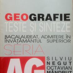 GEOGRAFIE TESTE SI SINTEZE - Silviu Negut, Octavian Mandrut - Teste Bacalaureat