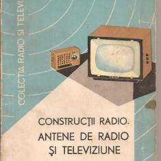 (C4402) CONSTRUCTII RADIO. ANTENE DE RADIO SI TELEVIZIUNE DE C. SERBU, EDITURA TEHNICA, 1966 - Carti Constructii