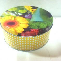 Cutie metalica rotunda / diametrul- 14 cm