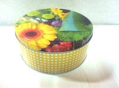 Cutie metalica rotunda / diametrul- 14 cm foto