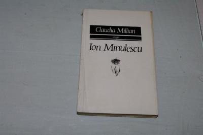 Claudia Millian despre Ion Minulescu - Editura pentru literatura - 1968 foto