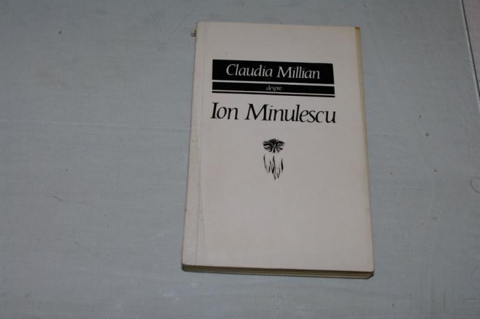 Claudia Millian despre Ion Minulescu - Editura pentru literatura - 1968