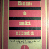 Caius Iacob - Elemente de analiza matematica - Carte Matematica