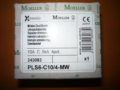Intreruptor magneto-termic trifazat,tetrapolar 10A,disjunctor,separator Moeller foto