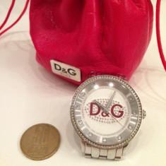 +++Ceas dama Dolce & Gabbana D&G Prime Time Crystal Fashion Watch model DW0144+++, Quartz, Inox, Analog