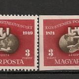 Ungaria.1950 75 ani UPU SU.101, Nestampilat