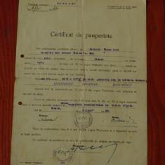 Act - document ---- Certificat de Paupertate 1949 !!!! - Diploma/Certificat