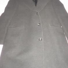 Palton barbatesc - Palton barbati, Marime: 50, Culoare: Negru, Lana