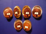 Set 6 Insigne Fruntas in Intrecere ,h= 3,7 cm