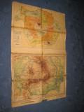 Harta uzata RPR. Compusa din 4 harti.