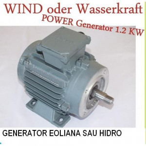 Generator Eoliana sau Hidro 24 V 1200 W