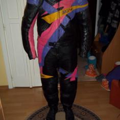 Costum moto MQP 100% piele marimea 54 - Imbracaminte moto