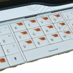 Tastatura Nokia 6760 Slide QWERTY ALBA Originala - Tastatura telefon mobil