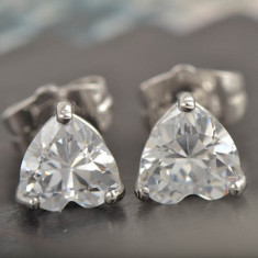 Cercei dublu placati aur 18K cristale zirconiu cod CFB18 - Cercei placati cu aur