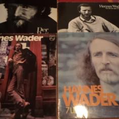 Hannes Wader lot 4 discuri disc vinyl muzica folk rock anii 70 made in germany, VINIL