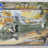 Elicopter de lupta al armatei tip lego army, 431 piese, jucarie constructiva, KAZI KY 84008 - Set de constructie