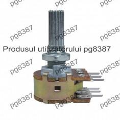 Potentiometru rotativ 1M, liniar, stereo - 181072