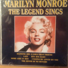 MARILYN MONROE - THE LEGEND SINGS ( 2002) -cd nou/sigilat - Muzica Jazz